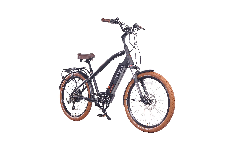 """אופניים חשמליים מגנום קלאסי. שילדה אלומניום חזקה, מערכת הידראולית כפולה, מהירות 25 קמ""""ש, גלגלי מגנזיום ובעלי תקן"""